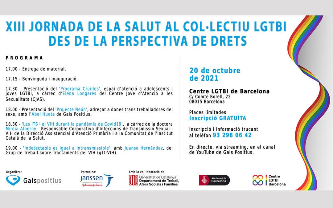 Gais Positius organitza la 'XIII jornada de la salut al col·lectiu LGTBI'